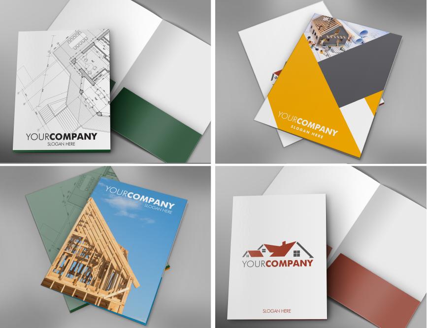 Construction, Repair Presentation Folder Templates