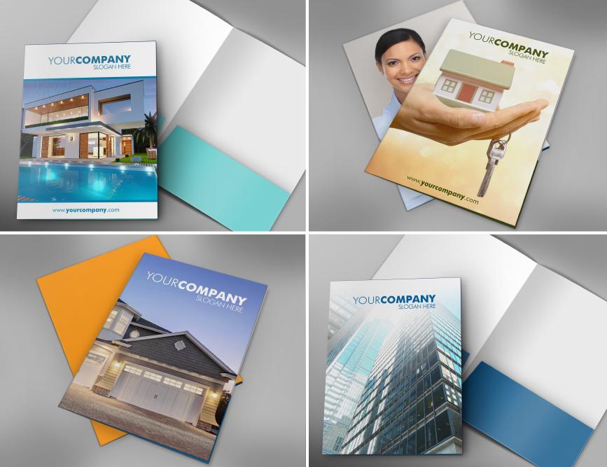 Real Estate Presentation Folder Templates