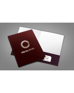 Luxury Pocket Folders - Soft touch + Foil