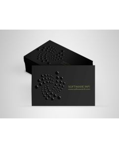 Business Cards - Soft Touch Laminated + Raised Spot UV